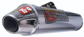 Pro Circuit Ti-4 Dual Silencer w/ Mid Section, 07-08 CRF250R