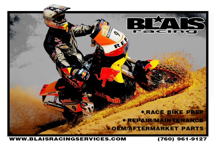 **We do engine rebuilds & race bike prep!   We specialize in KTM & Honda but can service or rebuild anything.  Several winning motors/bikes for Baja, Dakar, BITD, D37 ~ All Engine work is done by Chris Blais.**