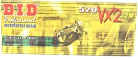 DID 520 VX2 118 Link Gold/ Black Chain