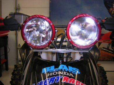 4 Inch Soltek Fuego Lights for TRX450 (HID $399 ea., Halogen $99 ea., bracket extra.)