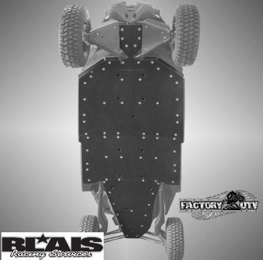 Canam Maverick X3 Max 4-Seater Factory UTV Skid Plate with X-Brace